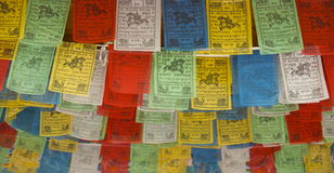 Bandiere tibetane di preghiera Fotografie Stock Libere da Diritti