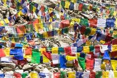 Bandiere tibetane di preghiera Immagini Stock Libere da Diritti