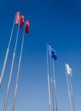 Bandiere tricolori Immagini Stock Libere da Diritti
