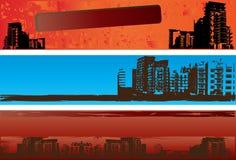 Bandiere urbane di Grunge Fotografia Stock