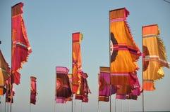 Bandiere variopinte Fotografia Stock