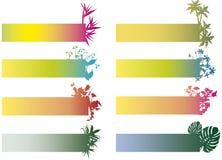 Bandiere variopinte con i fiori Fotografia Stock Libera da Diritti