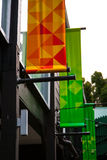 Bandiere verdi ed arancio Immagine Stock