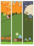Bandiere verticali Fotografia Stock