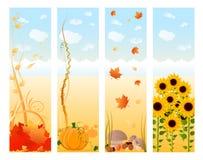 Bandiere verticali di autunno Fotografie Stock