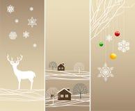 Bandiere verticali di inverno dell'albero Fotografie Stock