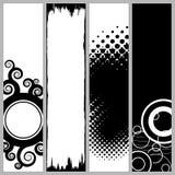 Bandiere verticali Funky Fotografie Stock Libere da Diritti