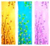 Bandiere verticali naturali floreali Fotografia Stock