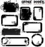 Bandiere vuote di Grunge Fotografie Stock