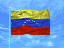 Bandierina 1 del Venezuela Immagine Stock Libera da Diritti