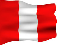 bandierina 3D del Perù illustrazione di stock