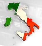 bandierina 3d dorata dell'Italia Fotografie Stock