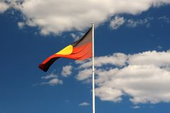 Bandierina aborigena Immagine Stock