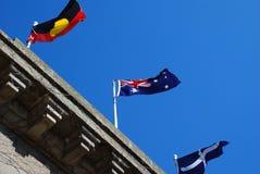 Bandierina aborigena della bandierina della bandierina australiana del eureka Fotografie Stock Libere da Diritti