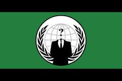 Bandierina anonima Fotografia Stock Libera da Diritti
