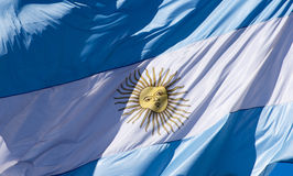 Bandierina argentina immagine stock libera da diritti
