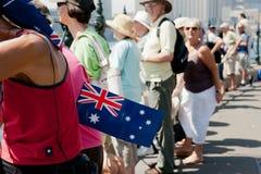 Bandierina australiana, celebrazioni di giorno dell'Australia. Fotografia Stock