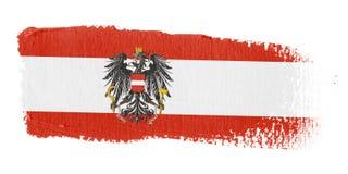 Bandierina Austria di Brushstroke Immagini Stock Libere da Diritti