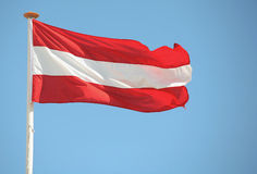 Bandierina austriaca fotografia stock libera da diritti