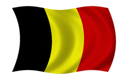 bandierina belga Immagine Stock Libera da Diritti