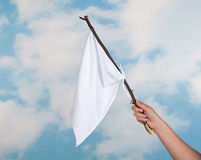 Bandierina bianca Fotografia Stock Libera da Diritti