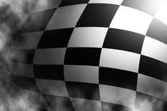 Bandierina in bianco e nero Checkered Immagine Stock