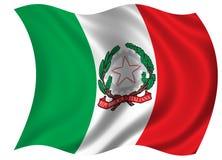 Bandierina/blasone dell'Italia Immagine Stock Libera da Diritti