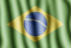 Bandierina brasiliana Immagini Stock Libere da Diritti