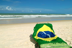 Bandierina brasiliana Immagine Stock Libera da Diritti