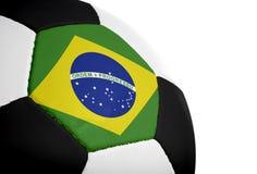 Bandierina brasiliana - gioco del calcio Fotografie Stock