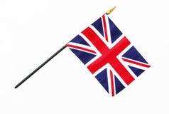 Bandierina britannica della Gran Bretagna su Palo Fotografia Stock Libera da Diritti