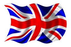 Bandierina britannica isolata Immagine Stock