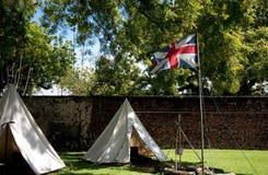 Bandierina britannica sulla fortificazione Fotografie Stock