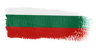 Bandierina Bulgaria di Brushstroke Fotografia Stock
