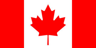 Bandierina canadese Fotografie Stock