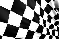 Bandierina Checkered Immagini Stock