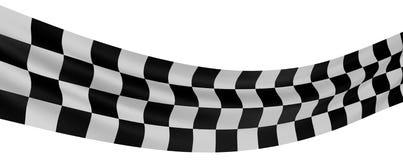 Bandierina Checkered 3 Immagine Stock