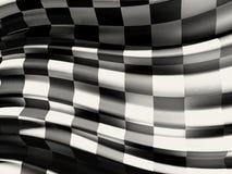 Bandiera a quadretti Fotografia Stock