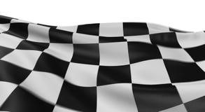Bandierina Checkered Fotografie Stock Libere da Diritti