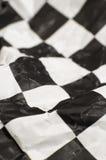 Bandierina Checkered della corsa Fotografie Stock