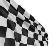 Bandierina Checkered della sfuocatura di movimento illustrazione di stock
