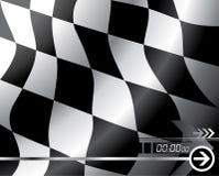 Bandierina Checkered di vettore Fotografia Stock