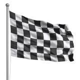 Bandierina Checkered (isolata) Immagini Stock Libere da Diritti