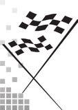 Bandierina Checkered - vettore royalty illustrazione gratis