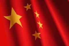 Bandierina cinese Fotografia Stock