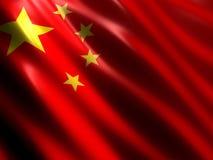 Bandierina cinese Immagini Stock Libere da Diritti