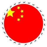 Bandierina cinese con gli aerei Fotografie Stock