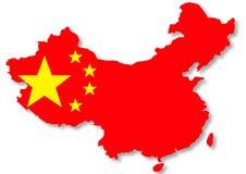 Bandierina cinese sull'illustrazione del programma del paese Fotografia Stock