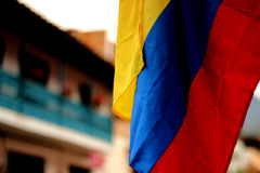 bandierina colombiana Fotografia Stock
