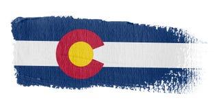 Bandierina Colorado di Brushstroke Immagini Stock Libere da Diritti